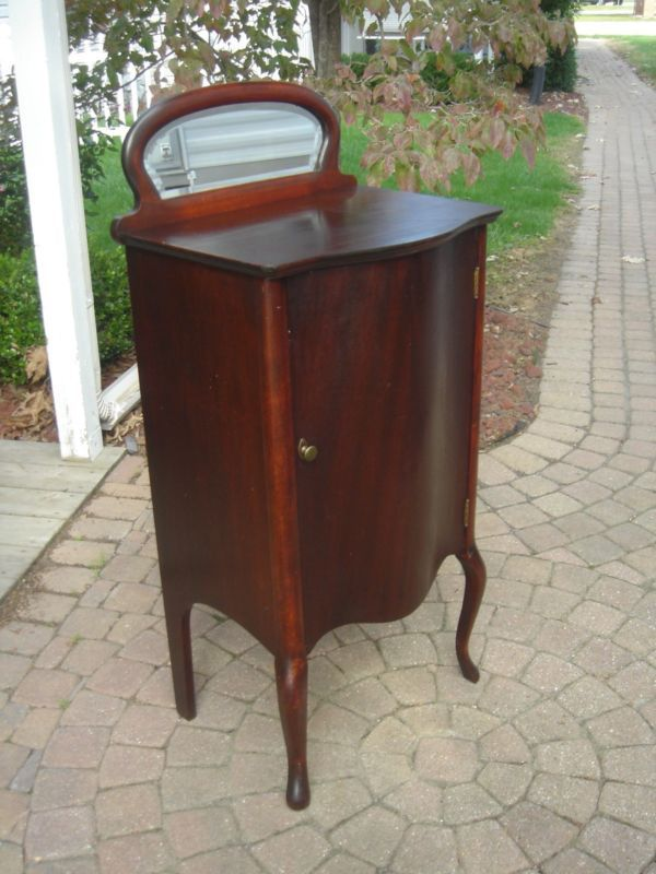 Antique Mahogany Sheet Music Cabinet w/mirror