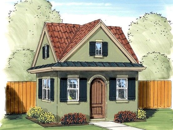 Cute Tiny House Plan Or Planting Shed 235sqft So