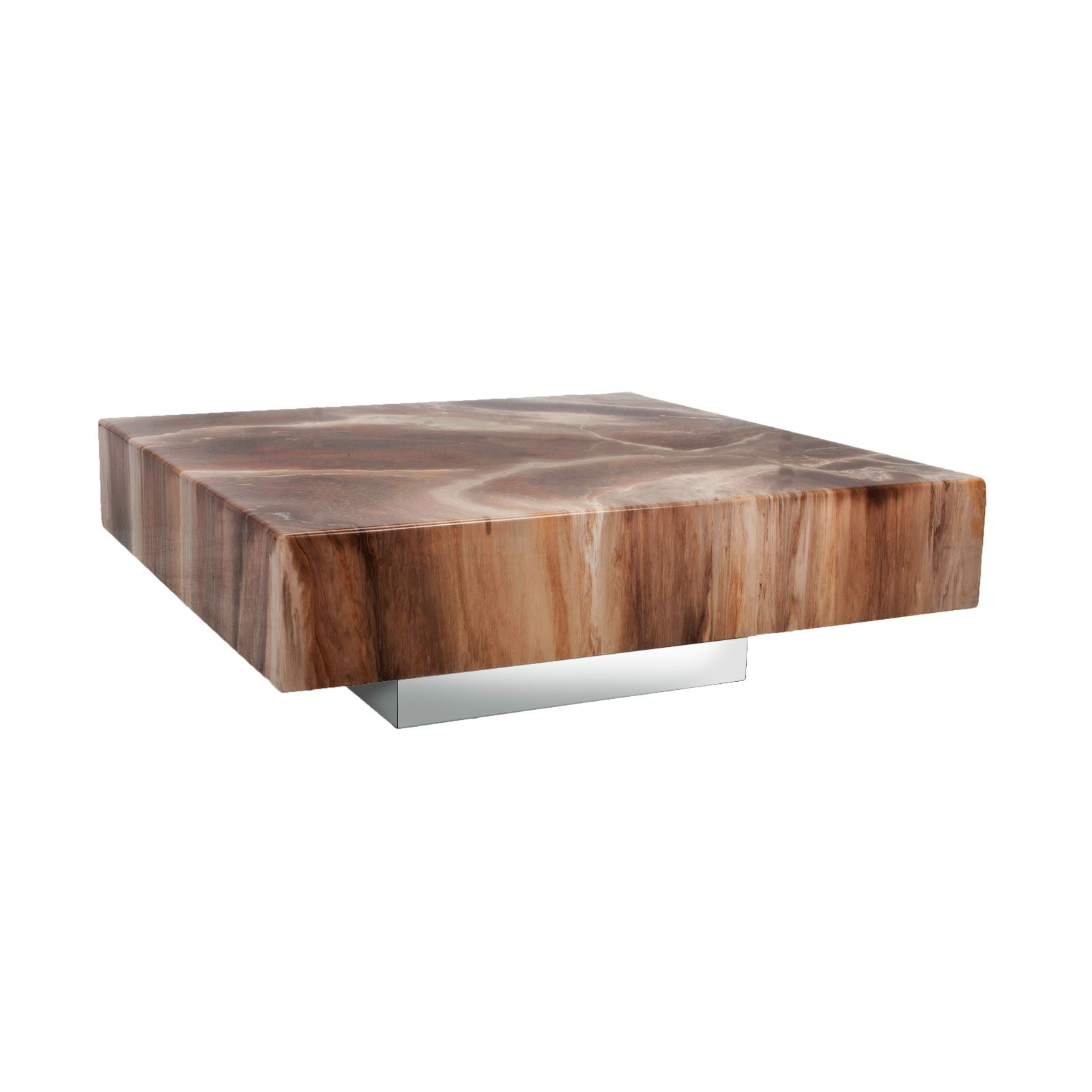 Beau Milo Baughman Coffee Table (Faux Marble)   FormDecor