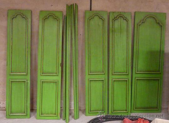 Lote de 5 puertas para armario empotrado con molduras para for Molduras para decorar puertas