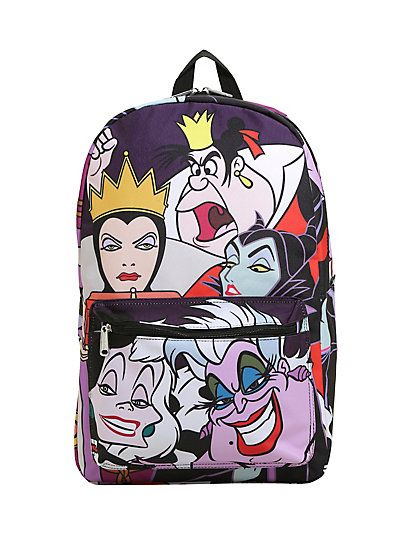 46e60dc0c62 Loungefly Disney Villains Characters Print BackpackLoungefly Disney  Villains Characters Print Backpack