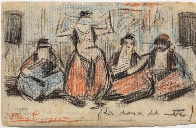 Pablo Picasso - La danza del vientre (Carta a Raventós), c.1900