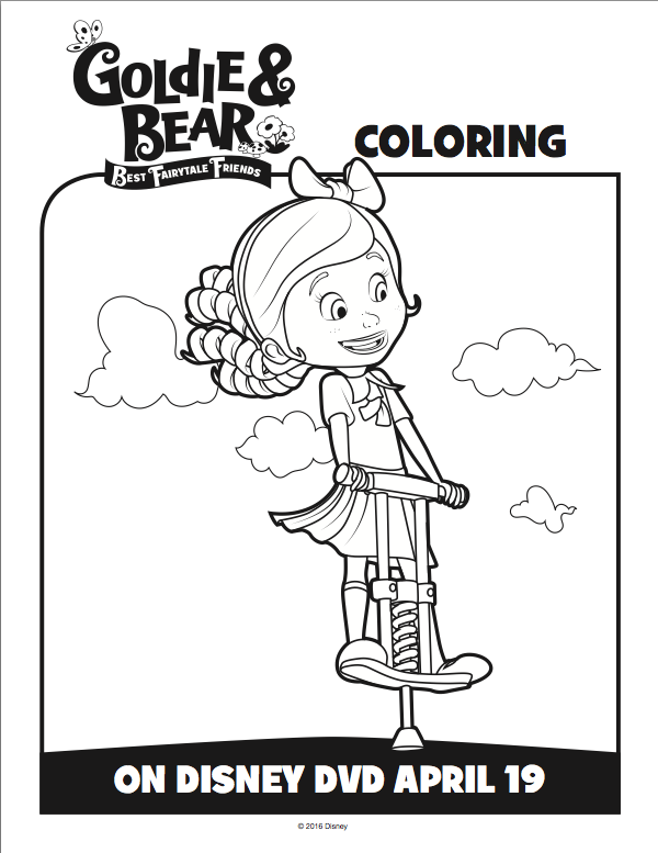 Goldie and Bear Coloring pages 2 goldie and bear birthday