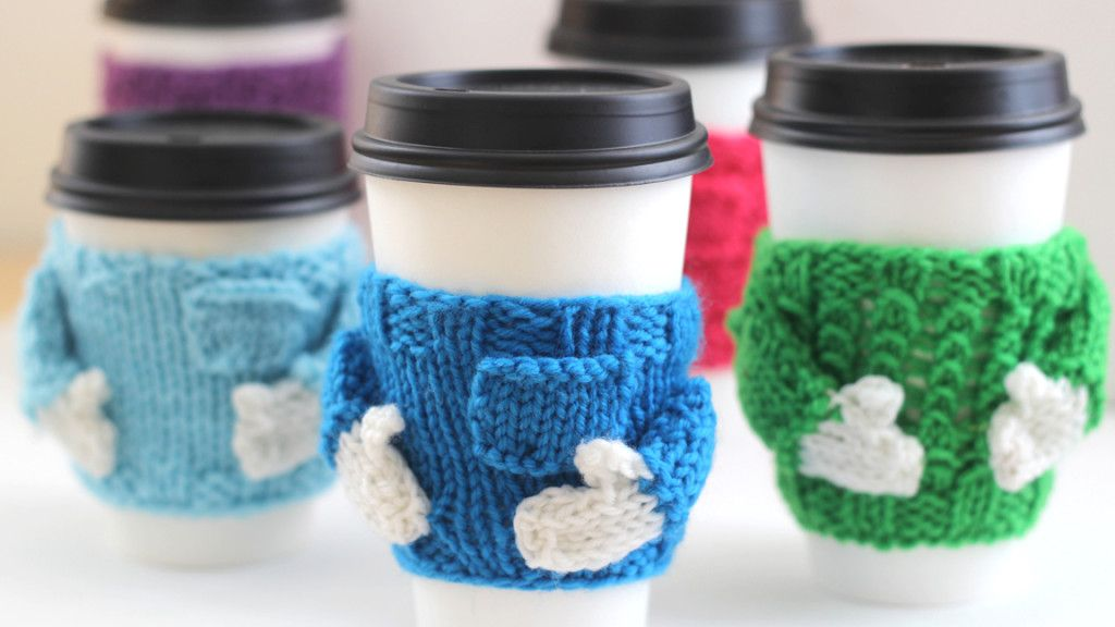 Kết quả hình ảnh cho Jar & Mug Cozy knitting