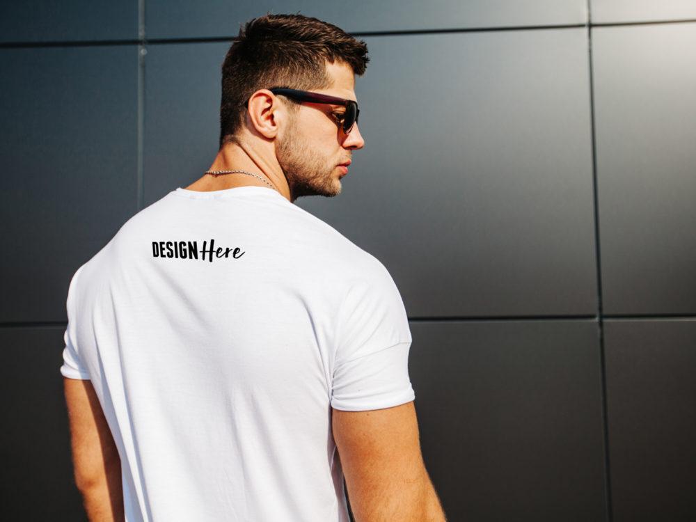 Realistic Back T Shirt Mockup Psd Mockup Template Tshirt Mockup Shirt Mockup Mockup