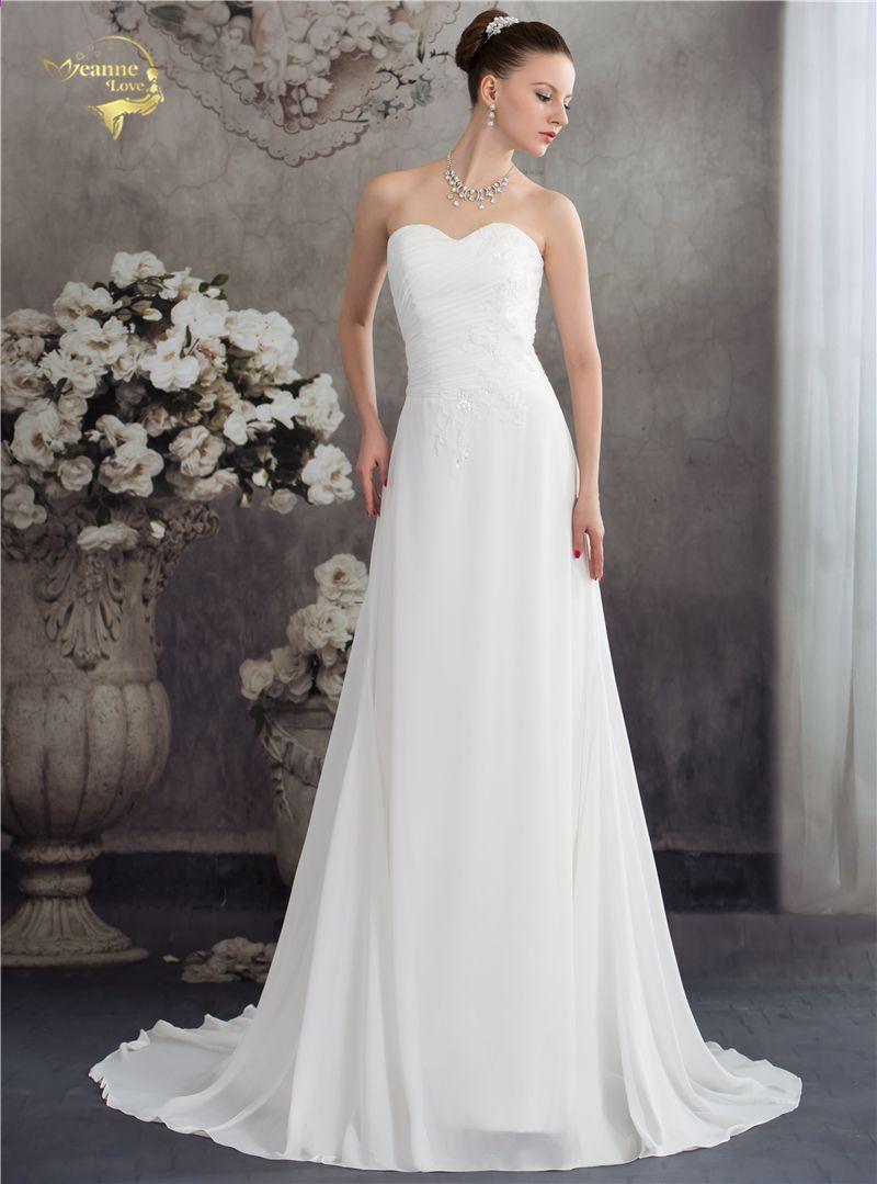 Jeanne Love Neue Ankunft Mode Vintage Brautkleider Bruidsjurken ...