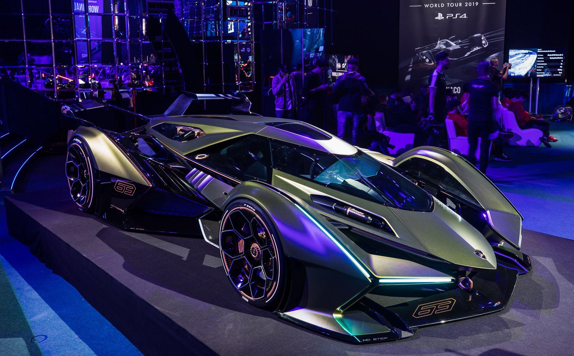 Lamborghini S Vision Gran Turismo Concept Packs A Hybrid V 12 Powertrain That Should Help The Car Deliver Formula One In 2020 Lambo Lamborghini Sports Cars Lamborghini