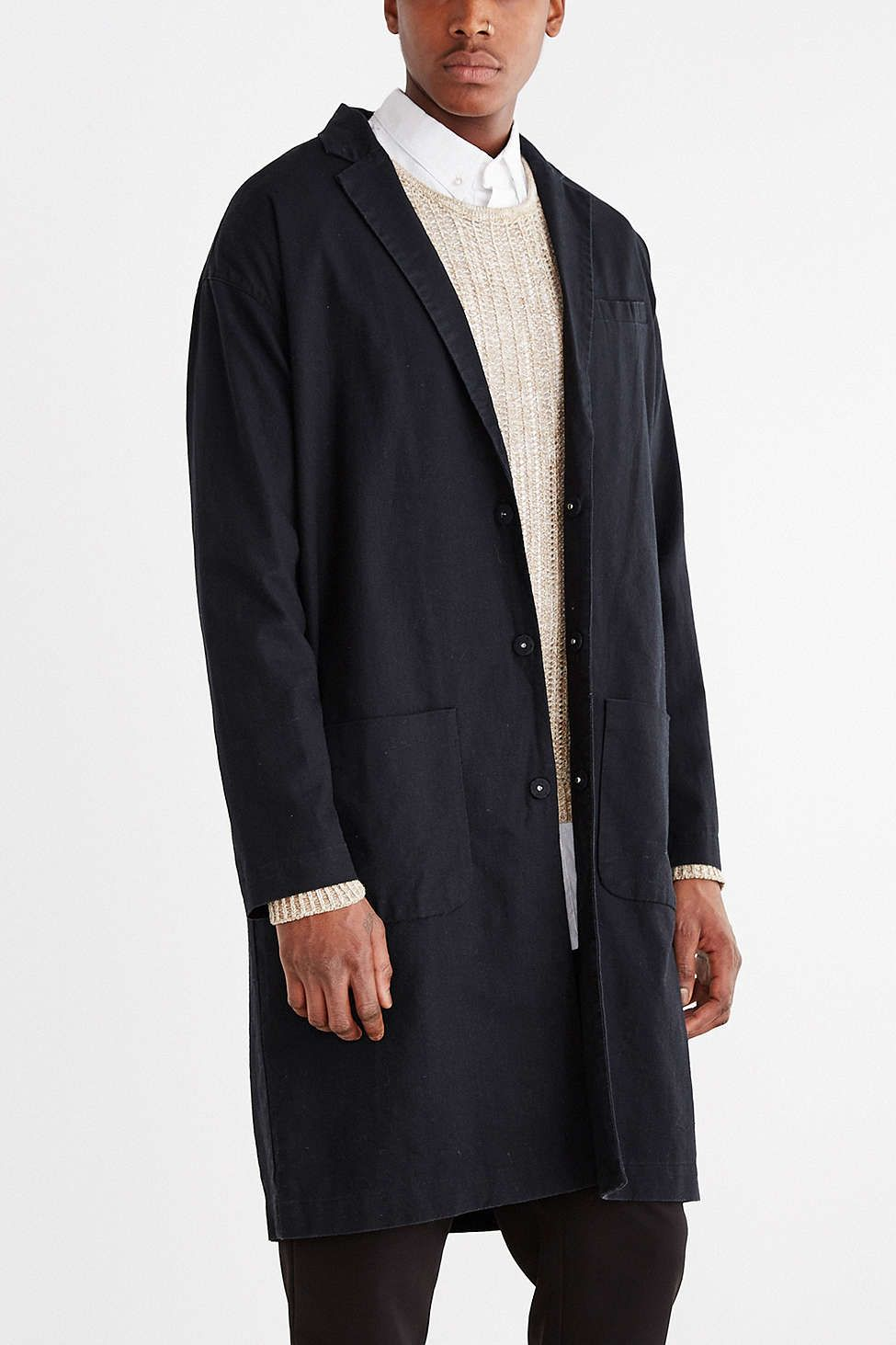 Your Neighbors Linen Duster Jacket | Style: Men | Pinterest ...