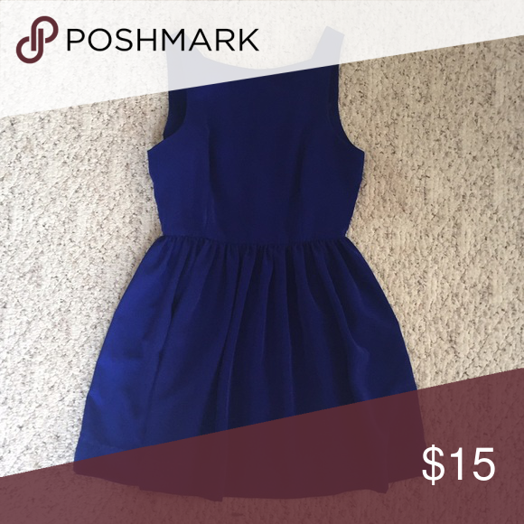 Fit n flare dress Royal blue thigh length dress American Apparel Dresses Mini