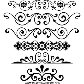 Vintage Calligraphy Borders Vector Graphics Calligraphy Borders Free Vector Ornaments Hand Lettering
