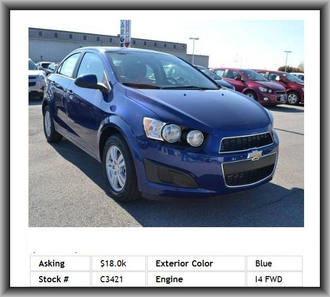 2014 Chevrolet Sonic Lt Auto Sedan Remote Start Remote Trunk