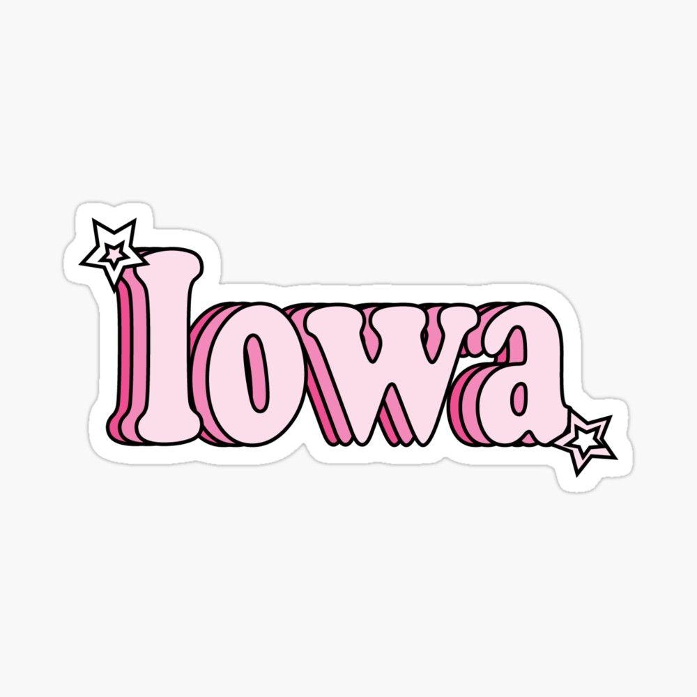 Iowa Sticker By Dkderosa Stickers Flags Of The World Iowa [ 1000 x 1000 Pixel ]