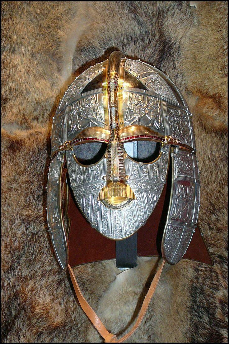 sutton hoo burial site | Viking Mask, Sutton Hoo Burial Site, near Woodbridge, Suffolk ...