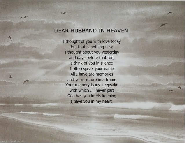 Missing husband in heaven quotes dear