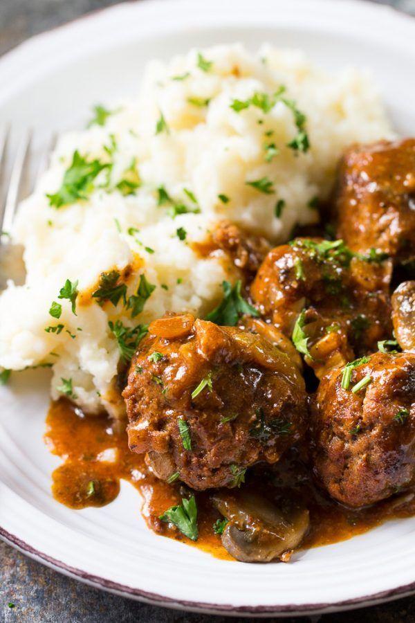 Photo of Salisbury Steak Meatballs {Paleo & Whole30}