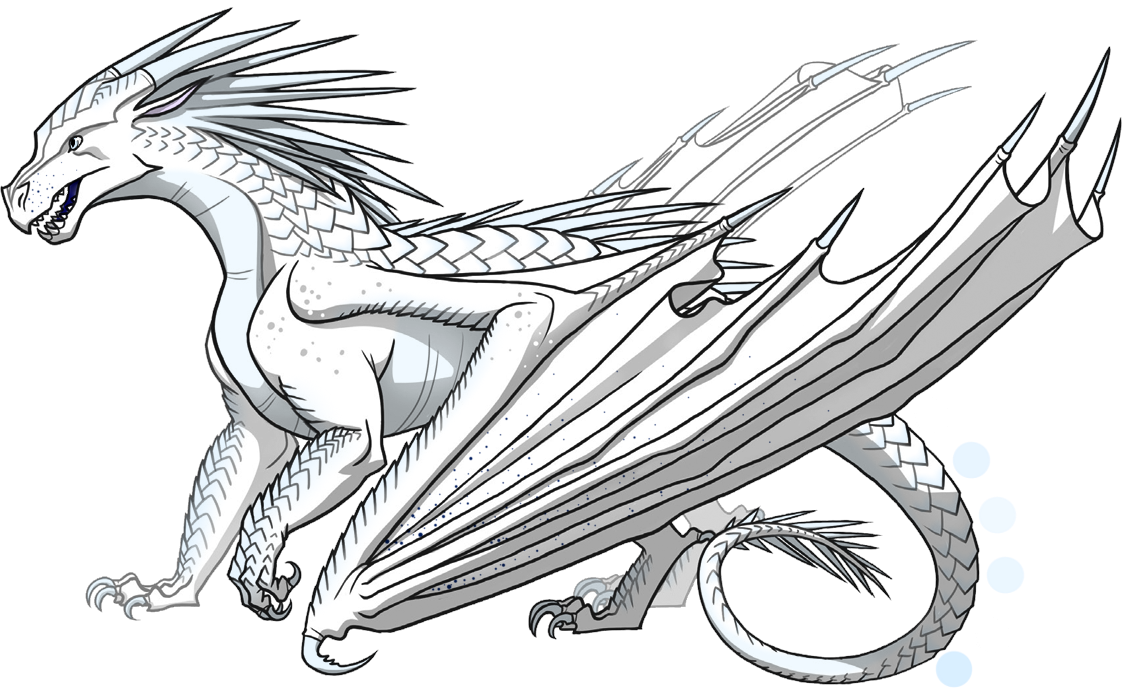 Lynx Is A Female Icewing With An Unusual Pattern Of Dark Blue Scales Scattered Across Her White Wings And Snout Wings Of Fire Wings Of Fire Dragons Fire Dragon