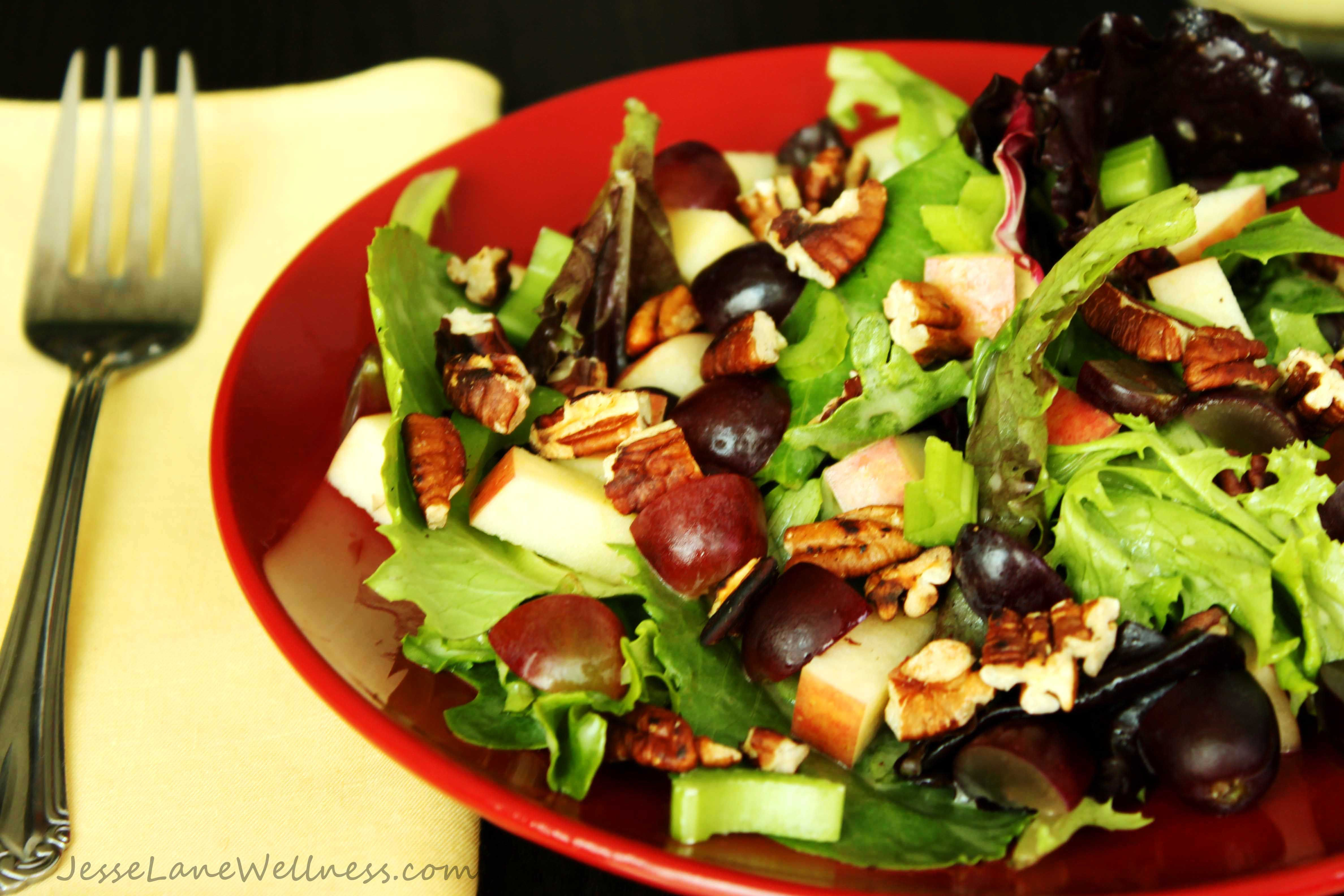 Leafy Waldorf Salad (mayofree, gluten free, nightshade