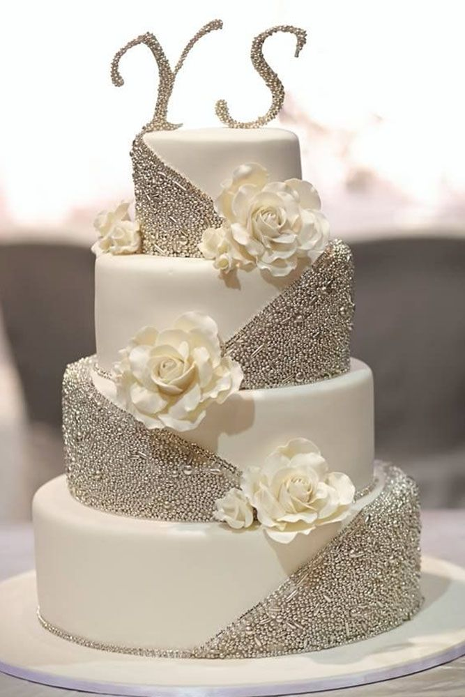 42 Beautiful Wedding Cakes The Best From Pinterest Wedding Cake Toppers Gold Wedding Cake Simple Wedding Cake