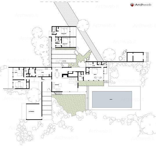 Kaufmann house palm springs ca 1946 richard neutra for Kaufmann desert house floor plan