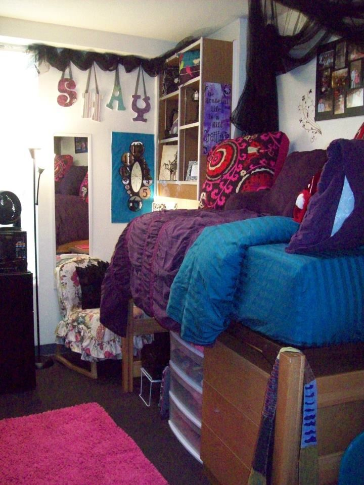 Dorm Room Layouts: Love The Decor In This College Dorm!