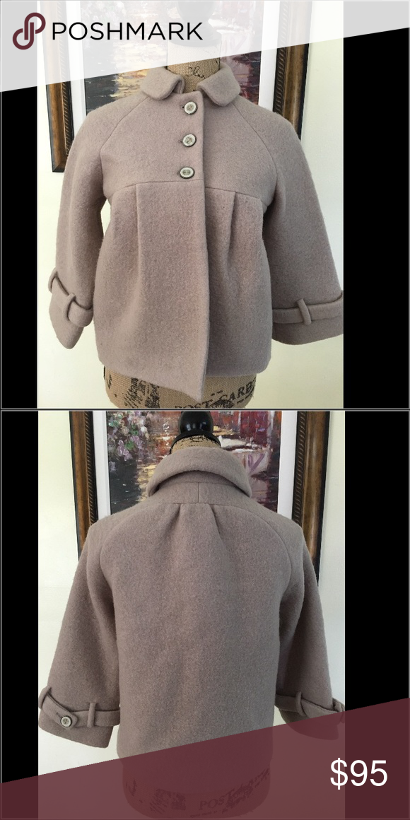 Zara Wool Coat Zara Wool Coat.  Light beige/shade of taupe color.  Gorgeous and perfect for day or evening for a fashionable woman! Zara Jackets & Coats