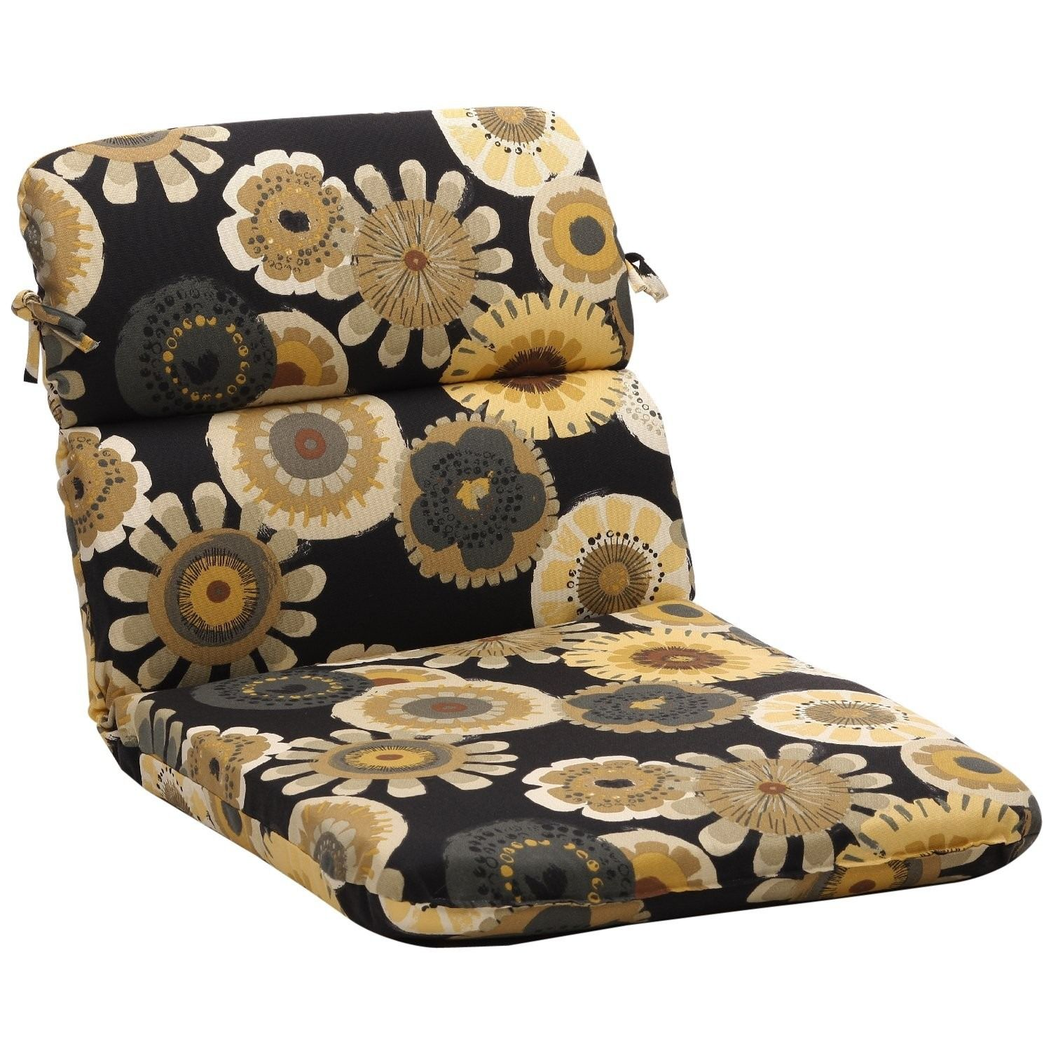 crosby black rounded chair cushion outdoor cushions pinterest