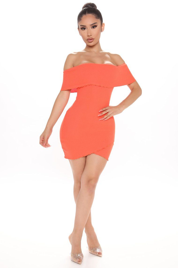 Magnetized Off Shoulder Mini Dress Orange Mini Dress Fashion Nova Dress Dresses [ 1139 x 760 Pixel ]