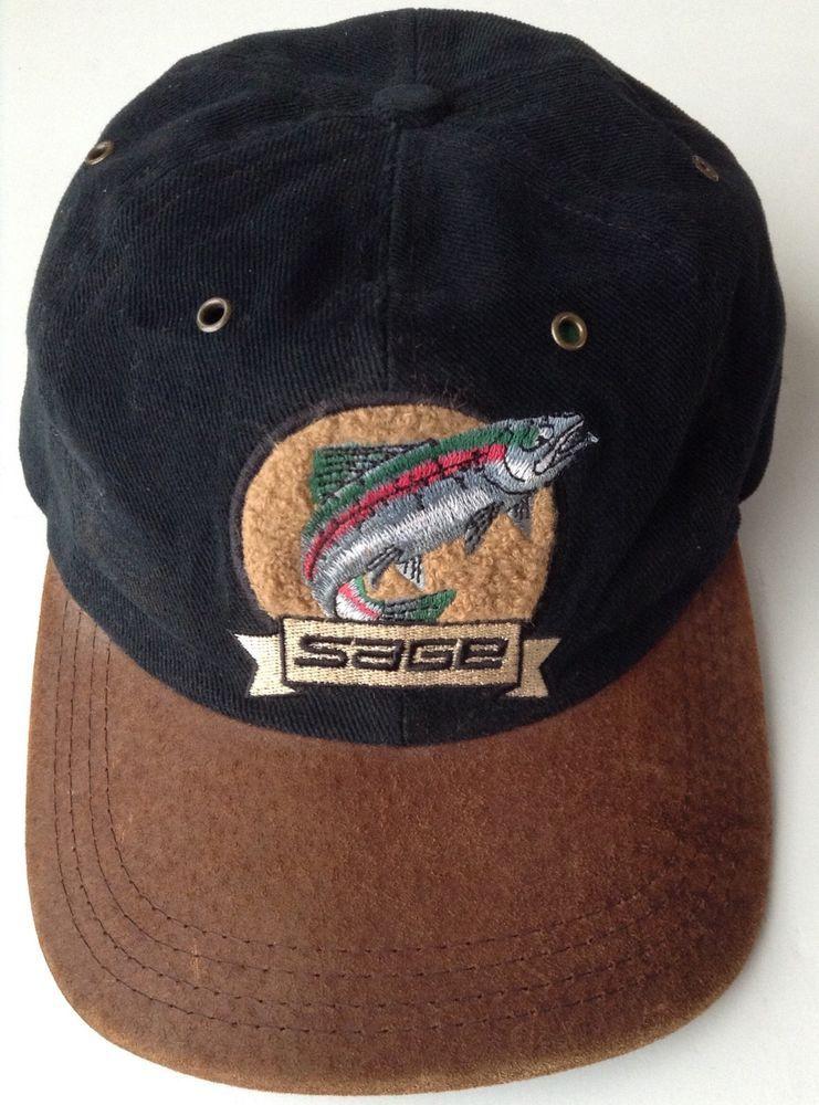 Sage Fly Fishing Baseball Hat Black Trout Fish Suede Brim Strapback Unisex Cap Sage Baseballcap Baseball Hats Men S Baseball Cap Hats