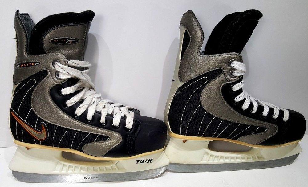 Nike Ignite 7 Hockey Skates YOUTH Sz 4D TUUK Fasteel Blades
