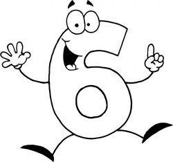 Alti 6 Rakami Boyama Sayfasi Sayılar Carteles De Números