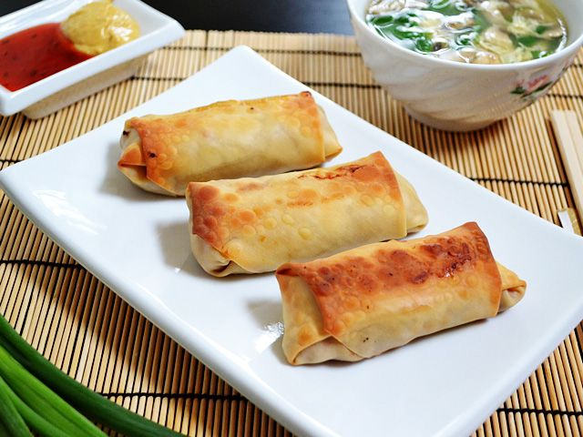 vegetable egg rolls  Total Recipe cost: $5.90   Servings Per Recipe: 10 (two rolls per serving)   Cost per serving: $0.59