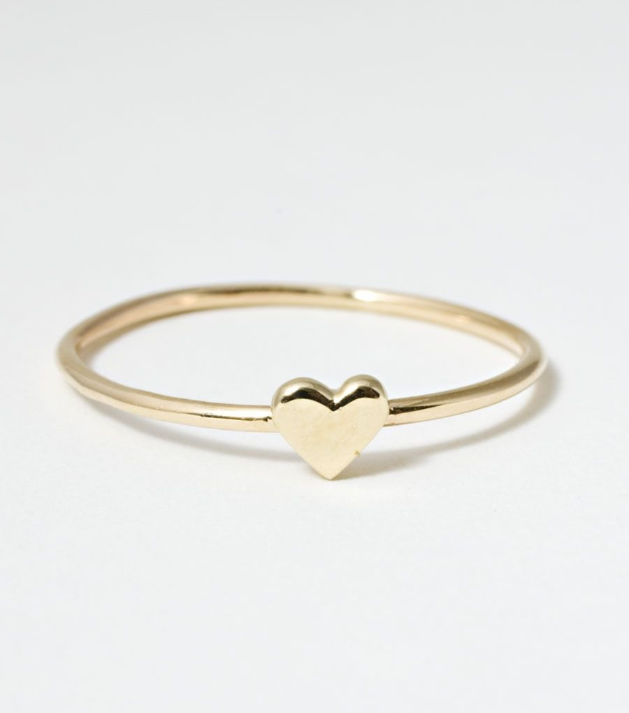 Cute heart ring. #heart #ring