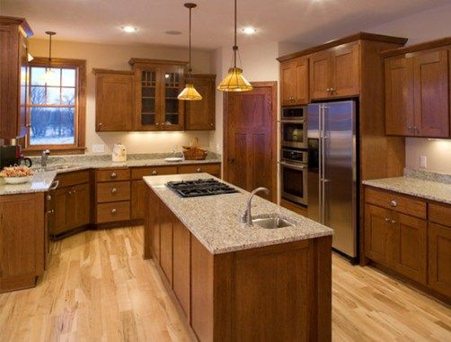 The 15 Best Paint Colours To Go With Oak Or Wood Trim Floor Cabinets And More Dark Oak Cabinets Kitchen Flooring Wood Kitchen Cabinets