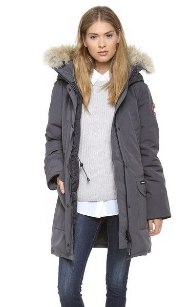 069904912 $335 BUY Canada Goose Trillium Parka Graphite Women FREE SHIPPING,NO TAX