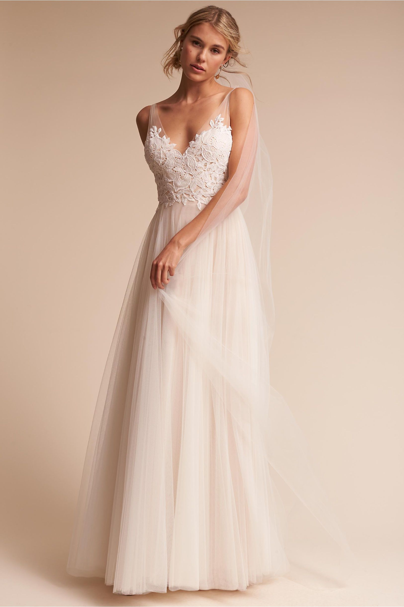Bhldn S Watters Heritage Gown In Ivory Champagne Products
