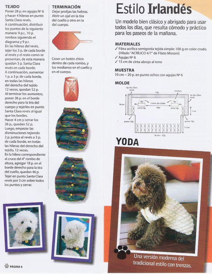 Resultado de imagen para patron ropa mascota crochet | pines ...