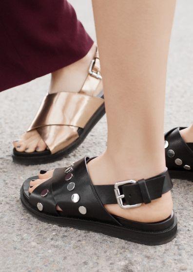 & OTHER STORIES Criss Cross Slide Sandals