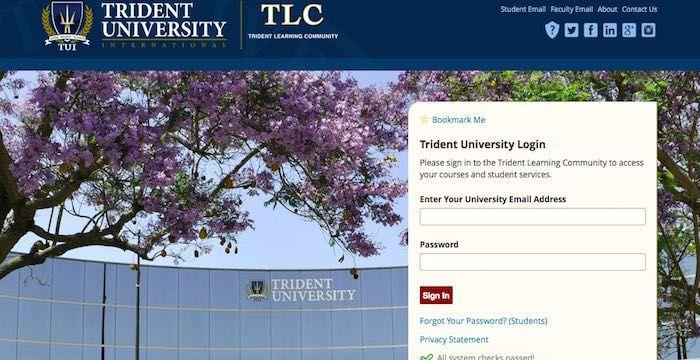 Trident Edu Login Sign In To Trident University Portal Online University Portal Student Services University