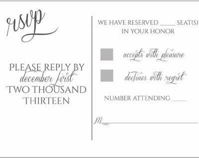 How Do I Make It Absolutely Clear That Guests Do Not Have A Plus One Rsvp Wedding Cards Rsvp Wording Rsvp Wedding Cards Wording