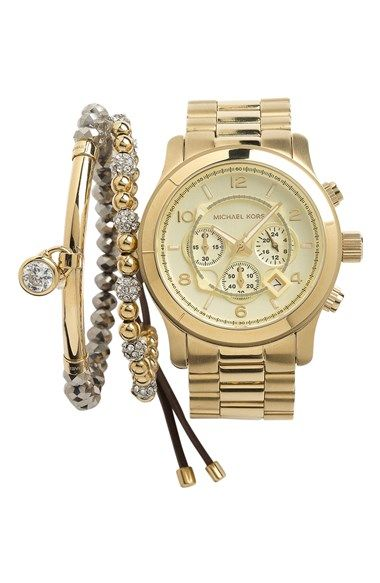 Free shipping and returns on MICHAEL Michael Kors Michael Kors Watch & Stretch Bracelet at Nordstrom.com. Return to the golden age.