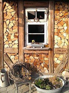 bildergebnis f r sichtschutz mit brennholz garten pinterest garten holz und brennholz. Black Bedroom Furniture Sets. Home Design Ideas