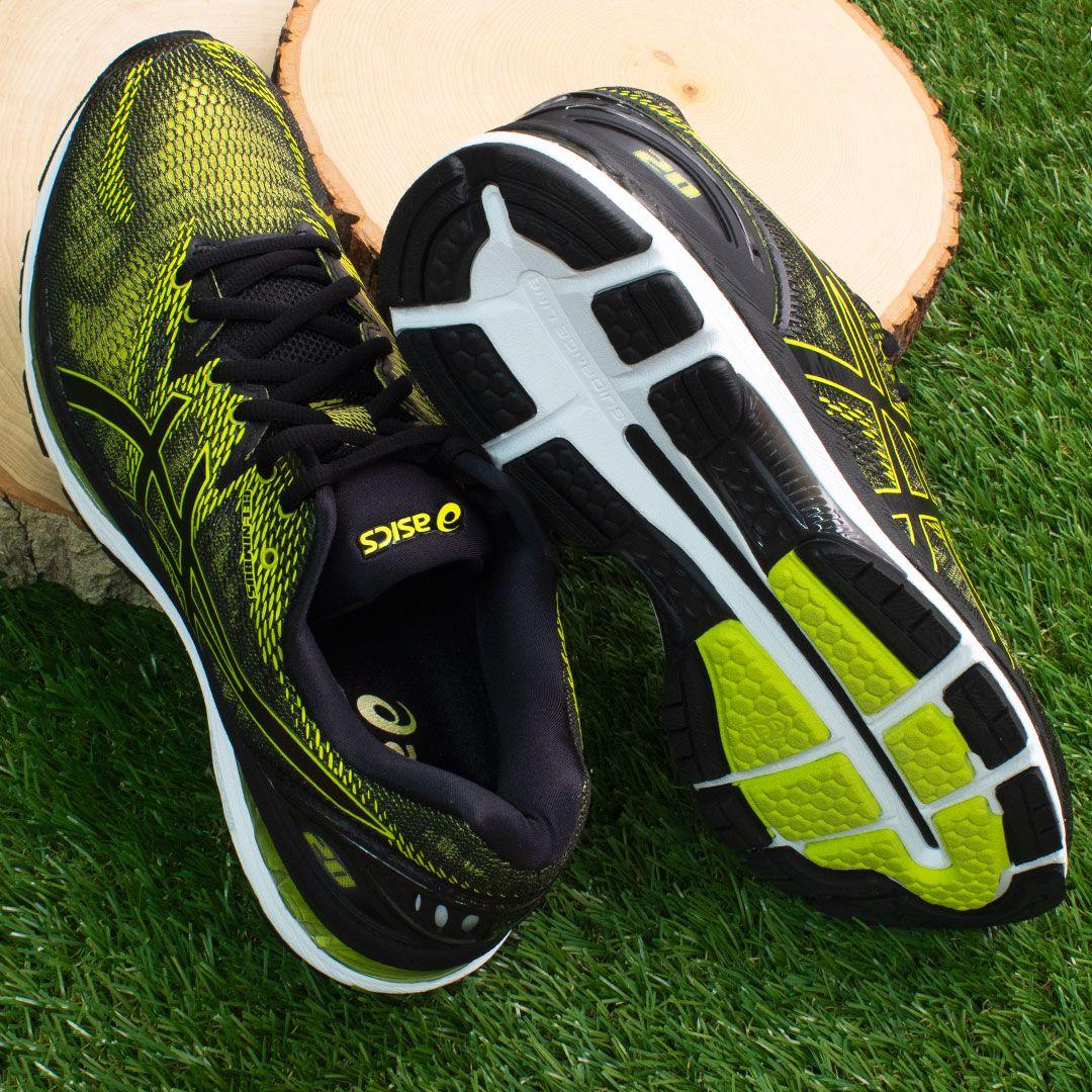 Mens ASICS Running Shoes Black \u0026 Green