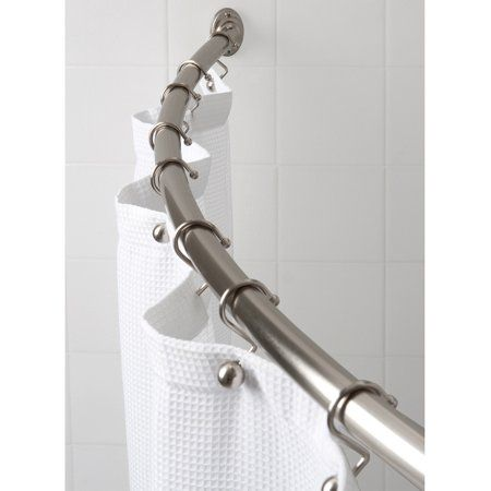 Canopy Heavy Weight Curved Shower Rod Silver Shower Rod Shower