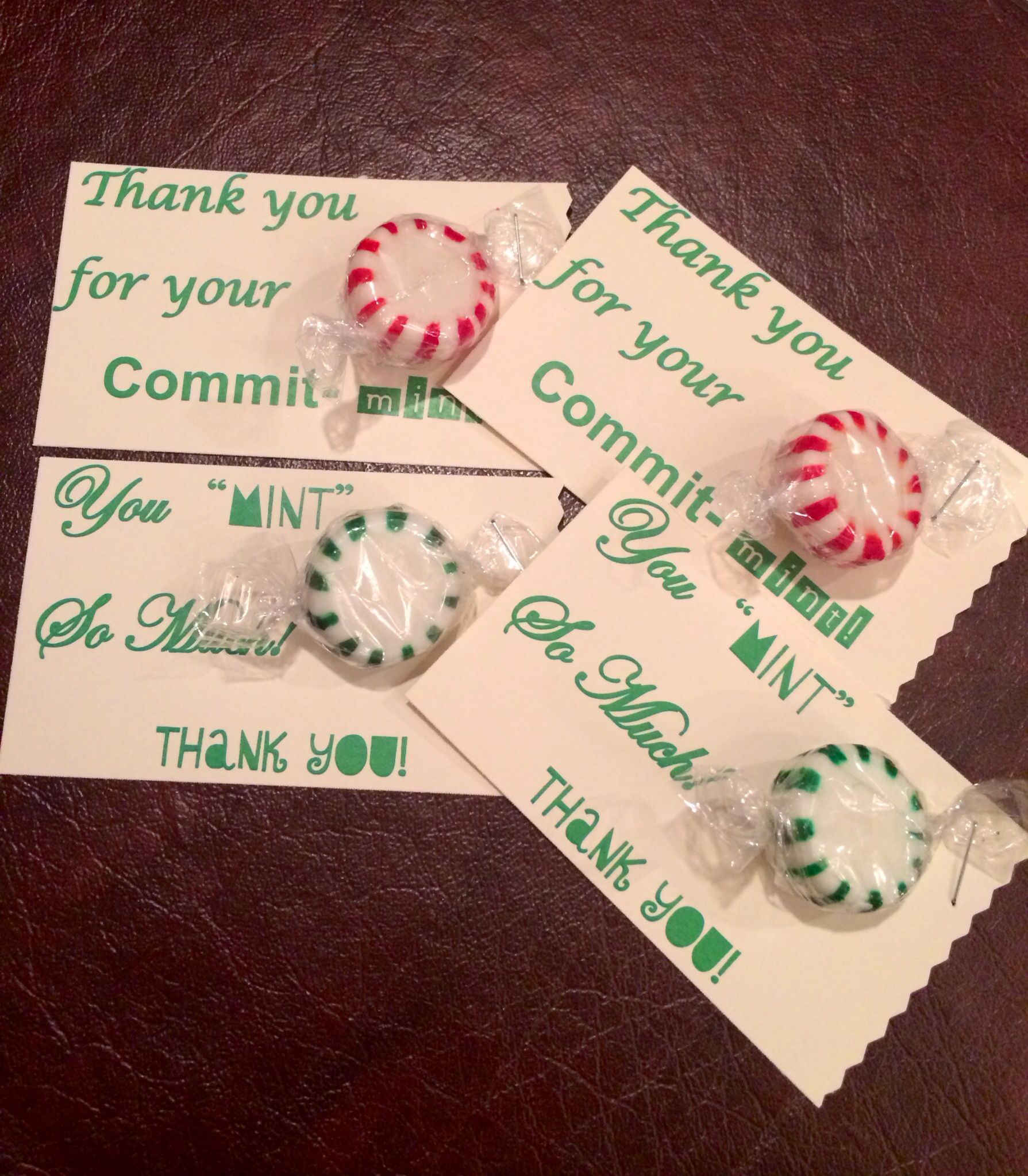 It's just a picture of Lucrative Thank You for Your Commit Mint Free Printable