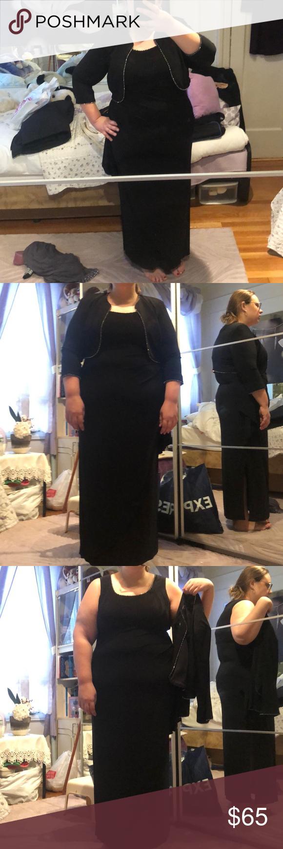 Black Elegant Long Black Dress With Cover Up Long Black Dress Black Dress Clothes Design [ 1740 x 580 Pixel ]