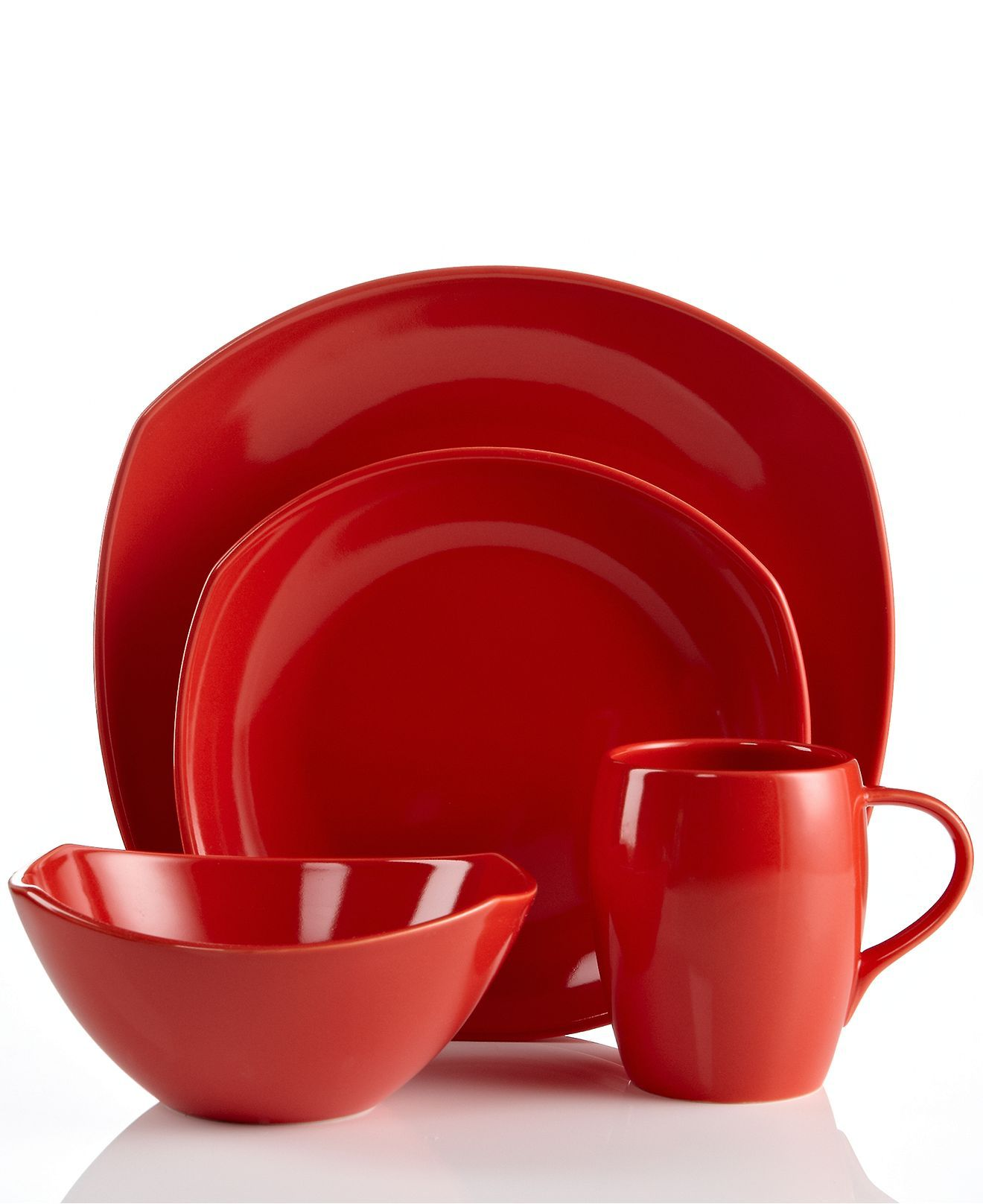 Dansk Dinnerware, Classic Fjord Chili Red Collection ...