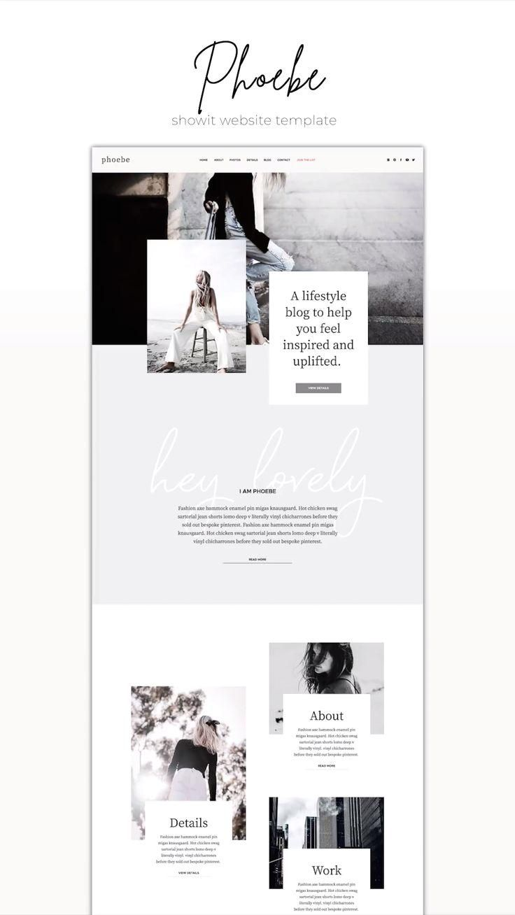 Showit Website Template Phoebe : One-of-a-kind Showit Website Template for creative small business owners. #showit #website #template #webdesign #branding #business #creative #professional #editorial #modern #best #inspiration #idea #brand  #Showit #Website #Template