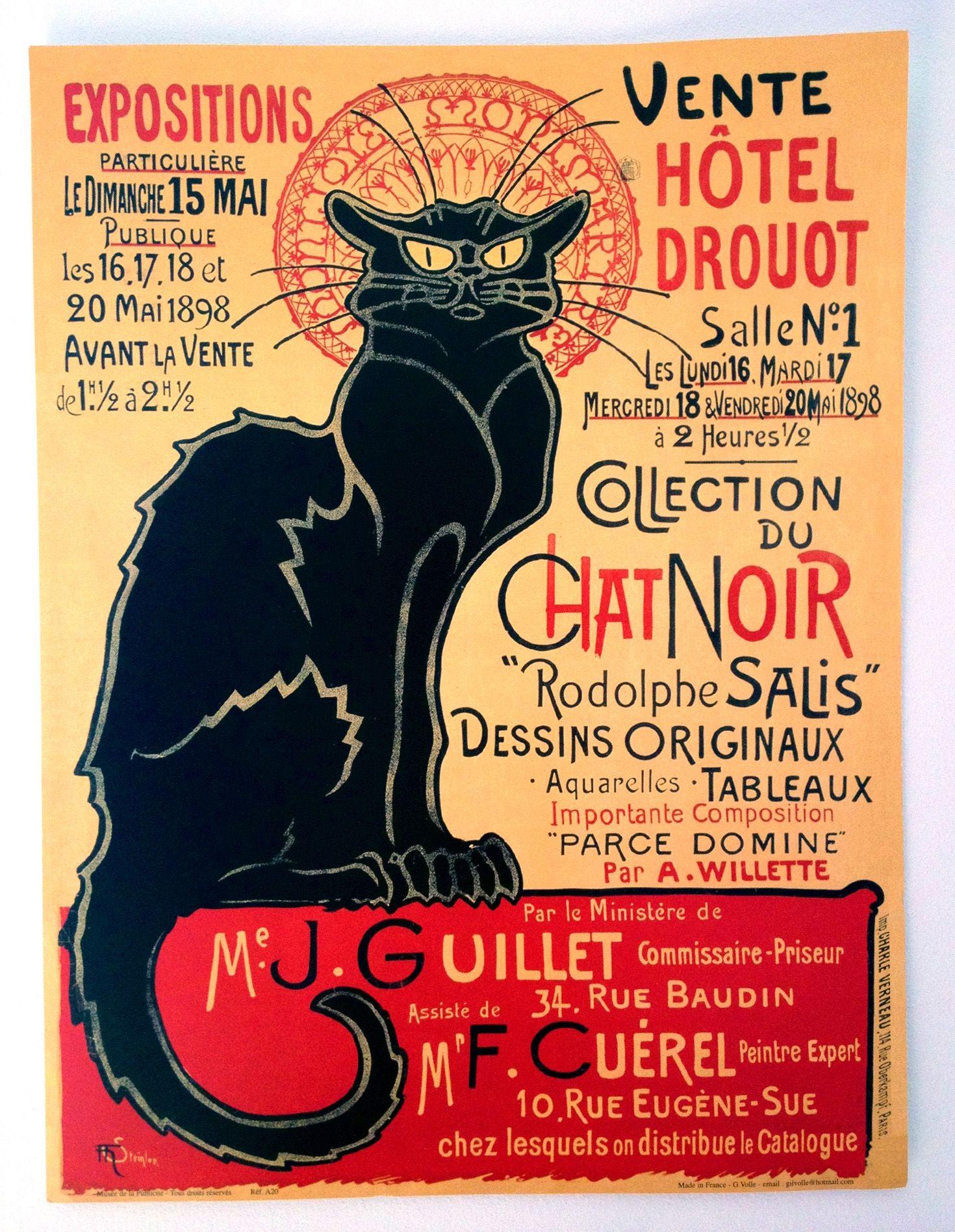 Exposition du Chat Noir 1898 | Carteles y fotos antiguas | Pinterest ...