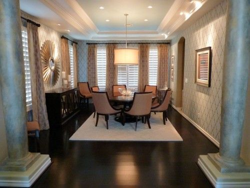 Coolly Modern Formal Dining Room Sets To Consider Getting: Ceiling, Light, Wall Covering