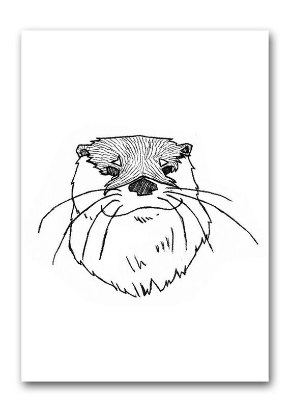 Affiche Loutre Totem canada | Loutre, Croquis animaux, Totem